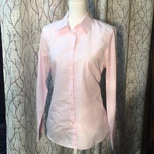 Kenar wrinkle resistant button down pale pink